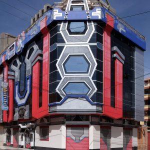 Patrice Loubon Transformer's building, El Alto, La Paz, Bolivia, 2017